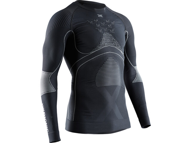 X-Bionic Energy Accumulator 4.0 T-shirt manches longues à col rond Homme, charcoal/pearl grey